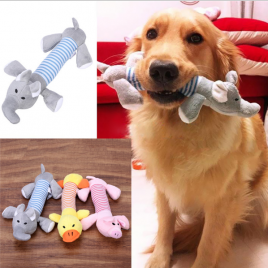 Plush Squeaky Dog Toys – 3 Funny Animals Available