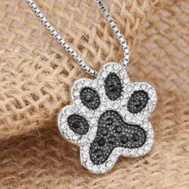 Dog Paw Pendant Necklace